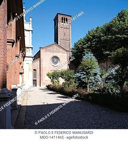 San Celso church and Santa Maria dei Miracoli church (Chiesa di San Celso e chiesa di Santa Maria dei Miracoli), sketch by Alessi Galeazzo, Bassi Martino