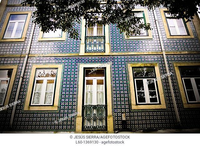 Facade in Alfama, Lisboa, Portugal