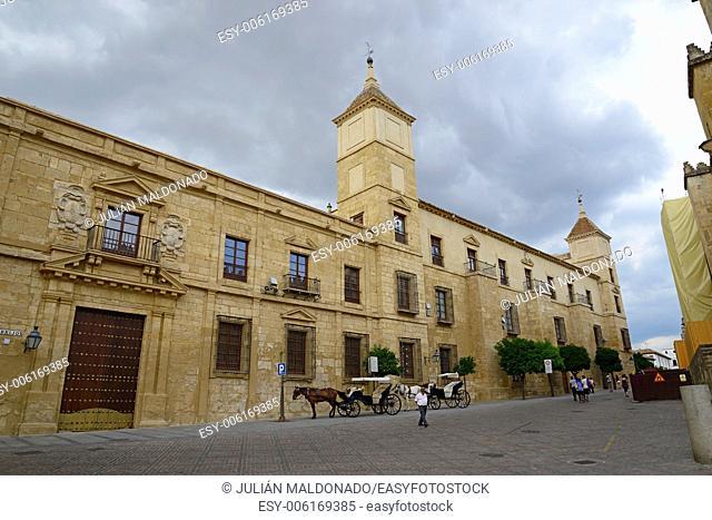 Home and facade of the Palacio Episcopal de Córdoba, Andalucía, Spain