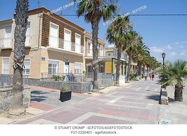 Houses on the promenade at Los Alcazares, Mar Menor, Murcia, Spain, Europe