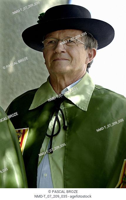 Close-up of a senior man smiling