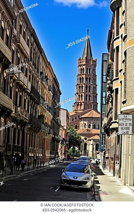 The Basilica of Saint Sernin, Toulouse, Haute-Garonne Department, France