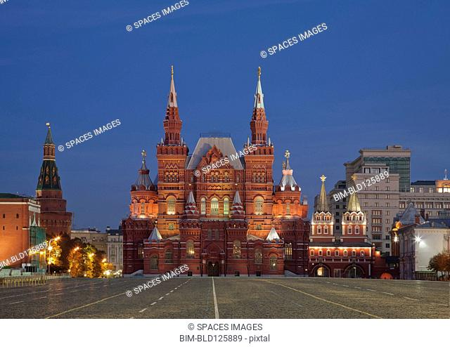Red Square and State History Museum, Moscow, Russia