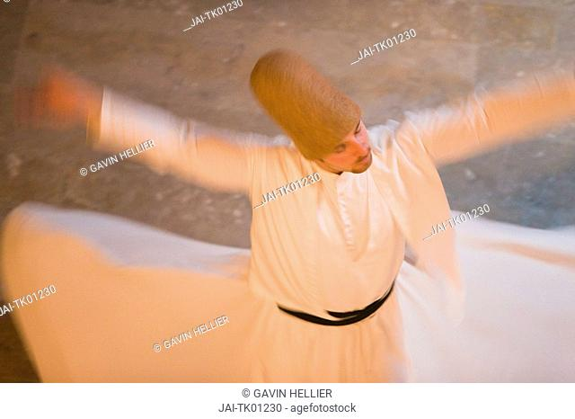 Whirling Dervishes The Mevlevi, performing the Sema ceremony, Istanbul, Turkey