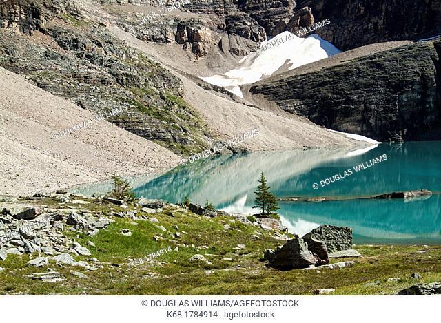 Oesa Lake, above Lake O'Hara in Yoho National Park, BC, Canada
