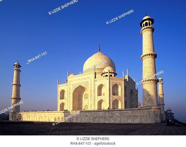The Taj Mahal on an early morning in February, UNESCO World Heritage Site, Agra, Uttar Pradesh, India, Asia