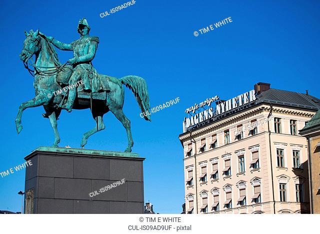 Statue of Carl XIV Johan, Gamla Stan, Stockholm, Sweden