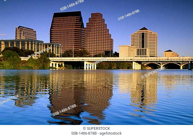 Buildings at the waterfront, Austin, Texas, USA