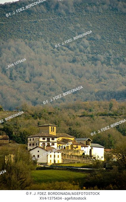 Arrieta panoramic views from Saragueta road  Arce Valley, Navarre  Spain