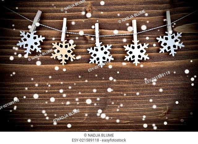 Snowflakes on a Line in the Snow