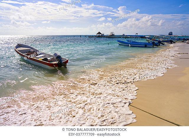 Puerto Morelos beach in Riviera Maya at Mayan Mexico
