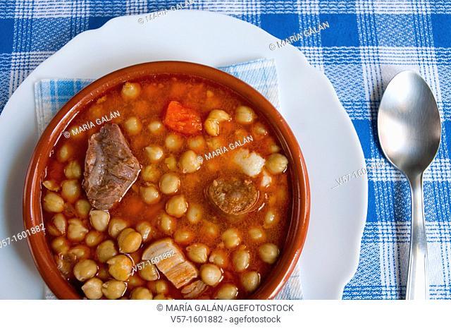 Spanish stew serving. Spain