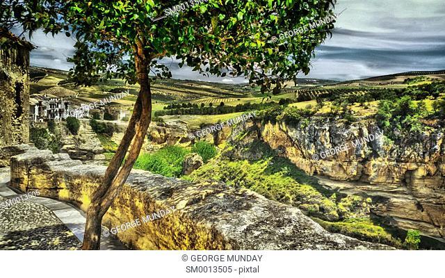 The valley in Alhamba de Granada, . Granada Province, . Andalucia, Spain