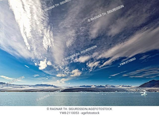 Jokulsarlon Glacial Lagoon, Breidamerkurjokull, Vatnajokull Ice Cap, Iceland
