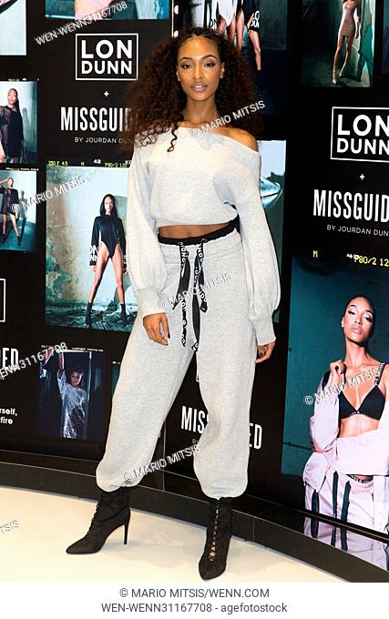 Jourdan Dunn celebrates the launch of the Lon Dunn + MISSGUIDED Collection at Missguided's Westfield Store Featuring: Jourdan Dunn Where: London