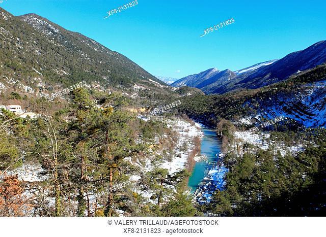 Esteron valley, Alpes-Maritimes, Préalpes d'Azur regional natural park, Provence-Alpes-Côte d'Azur, France