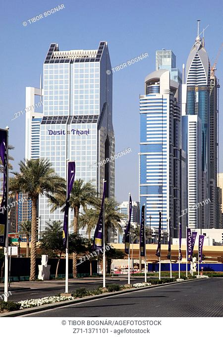 United Arab Emirates, Dubai, Sheikh Zayed Road, Dusit Thani Hotel