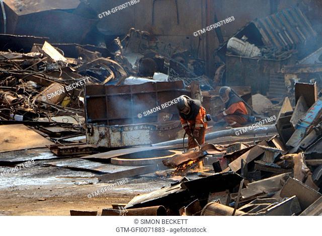 Man in Scrap Yard