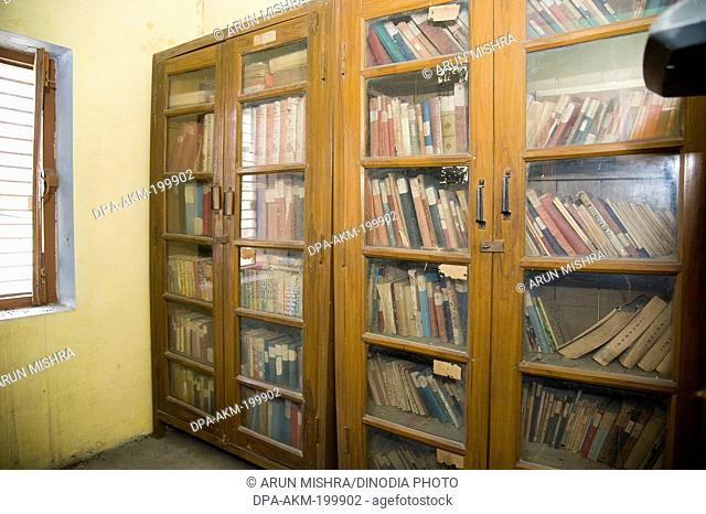 scripts library at kabir math, varanasi, uttar pradesh, Asia, India