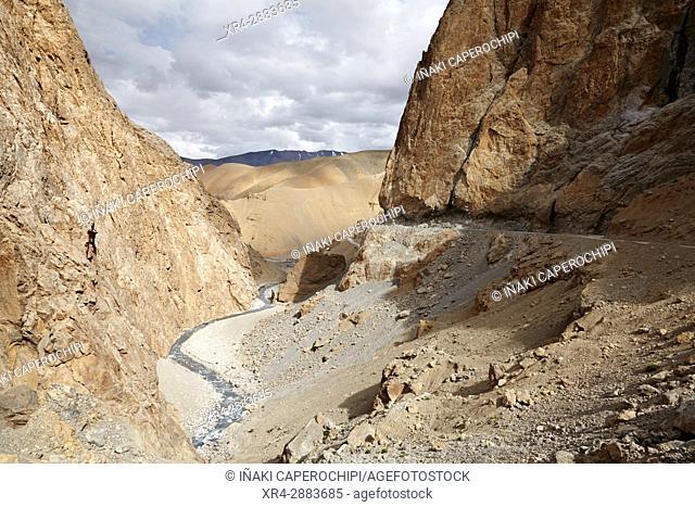 Bhaga Canyon walls,Manali - Leh Highway, Ladakh, India