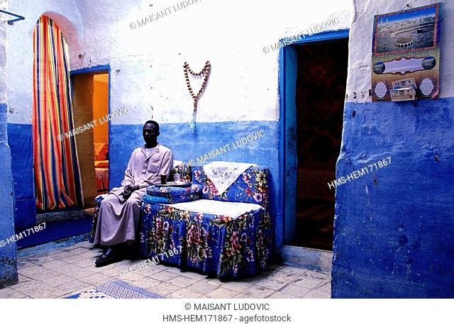 Egypt, Upper Egypt, Aswan, Nubian house on Elephantine Island