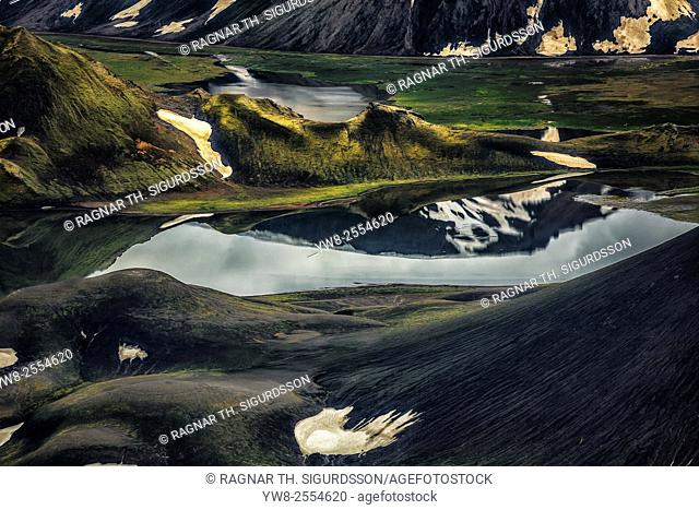 Riverbeds in Landmannalaugar, Central Highlands, Iceland