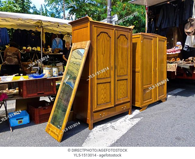 Paris, France, People Shopping for Used Furniture in Montreuil Flea Market