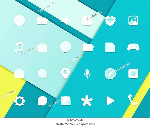 Modern smartphone icons set. Different web icons. Modern material design pictograms clipart