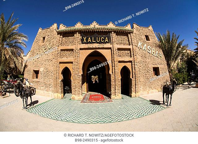 Traditional berber architecture at the Xaluca Hotel, Erfoud, Morocco