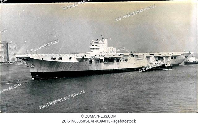 May 05, 1968 - The carrier that never went to sea will end her days as Razor Blades. The aircraft carrier Leviathan, 15,700 tons