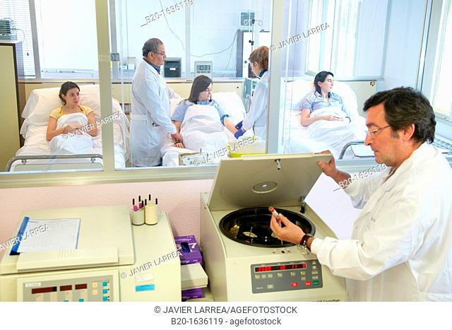 Experimental phase clinical trial, Processing of biological samples, Clinical Trials Unit, Testing in Phase 1, the first drug administration in humans, Pharmacy