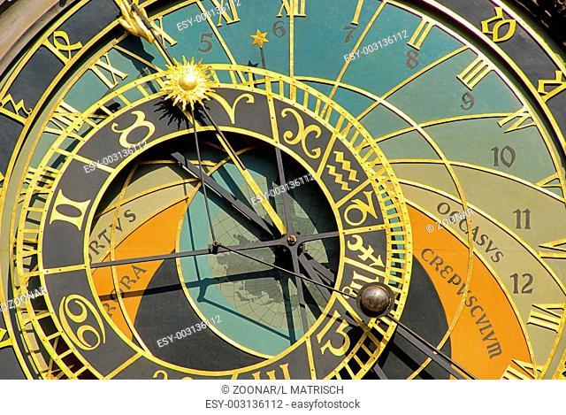 Prag Uhr - Prague tower clock 06