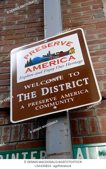 Sign Depicting The District in Nashville Tennessee. USA