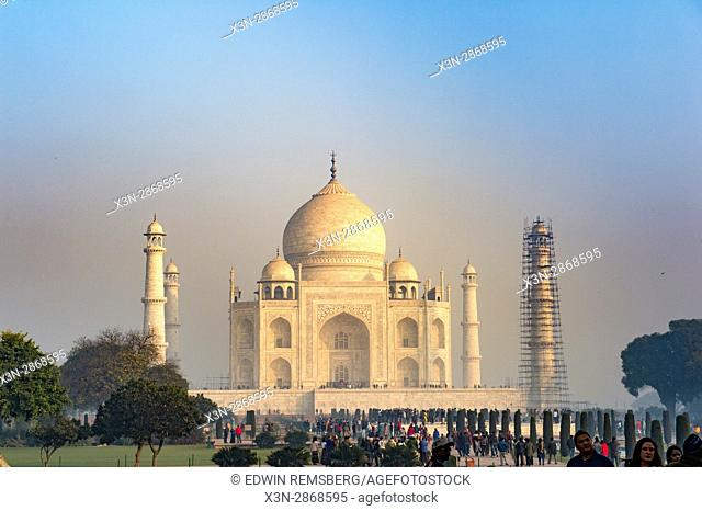 View of the Taj Mahal from inside the complex, located in Agra, India
