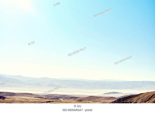 View of distant valley, Death Valley, California, USA
