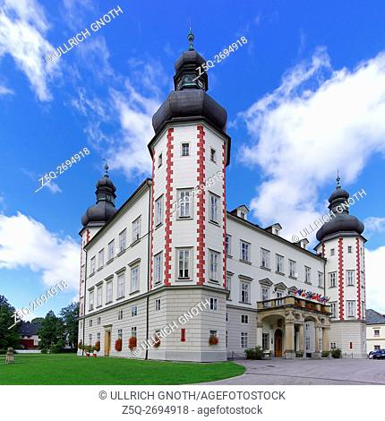 View of the historic castle and nowadays the seat of the city administration of Vrchlabi (Hohenelbe) in the Giant Mountains, Czech Republic