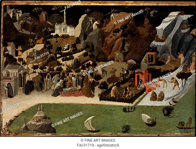 Scenes from the Lives of the Desert Fathers (Thebaid) by Angelico, Fra Giovanni, da Fiesole (ca. 1400-1455)/Tempera on panel/Renaissance/1420/Italy