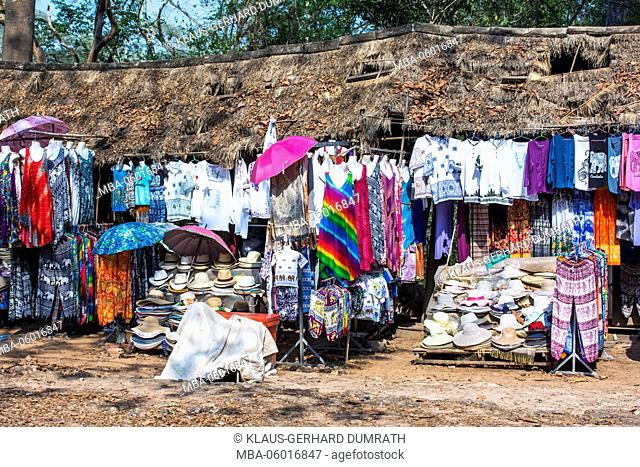 Angkor, parking lot with stall
