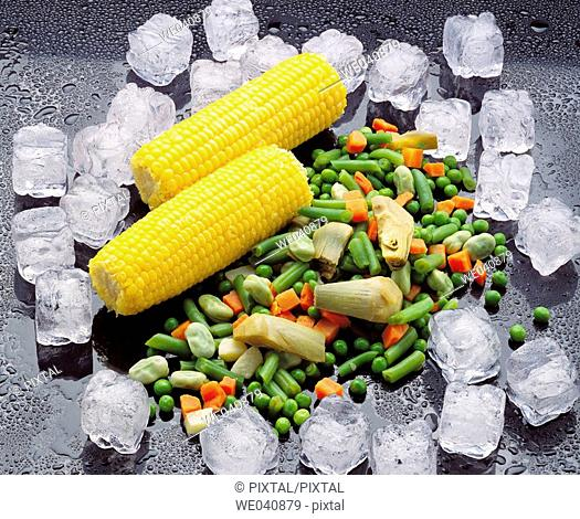 Corn and vegetables