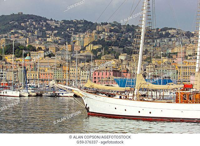 Italy. Liguria. Genoa (Genova). Harbour
