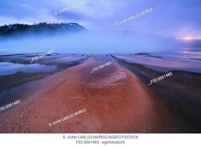 Grand Prismatic Spring, Grand Prismatic Area, Yellowstone National Park, Unesco World Heritage Site, Wyoming, Usa, America