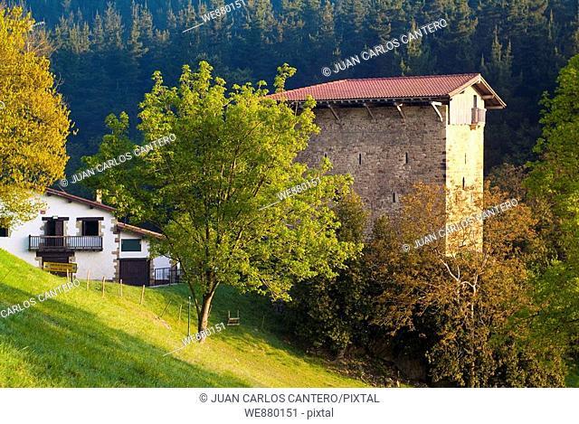 Etxaburu tower-house in Izurtza, Biscay, Basque Country, Spain