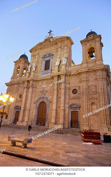 Chiesa Madre dedicated to Saint Thomas of Canterbury, Marsala, Sicily, Italy, Europe