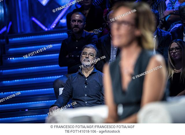 Ilaria Cucchi, sister of Stefano Cucchi, during the interview at the tv show Domenica In, Rome, ITALY-14-10-2018