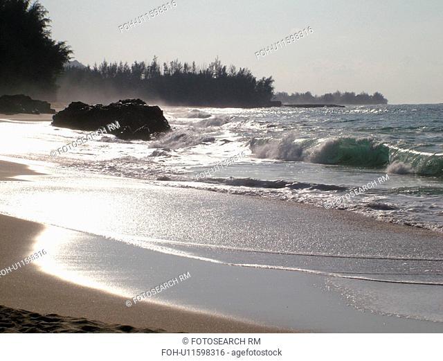 Hanalei, Princeville, Kauai, HI, Hawaii, North Shore, Lumahai Beach