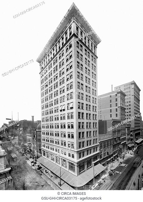 Ingalls Building, Cincinnati, Ohio, USA, Detroit Publishing Company, 1906