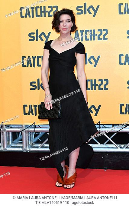 Tessa Ferrer during the Red carpet for the Premiere of film tv Catch-22, Rome, ITALY-13-05-2019