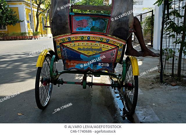 Rickshaw, Pondicherry, Tamil Nadu, India