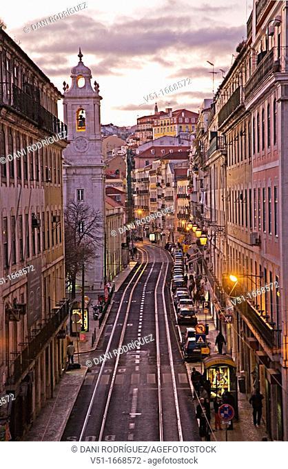 Avenue in Lisbon, Portugal
