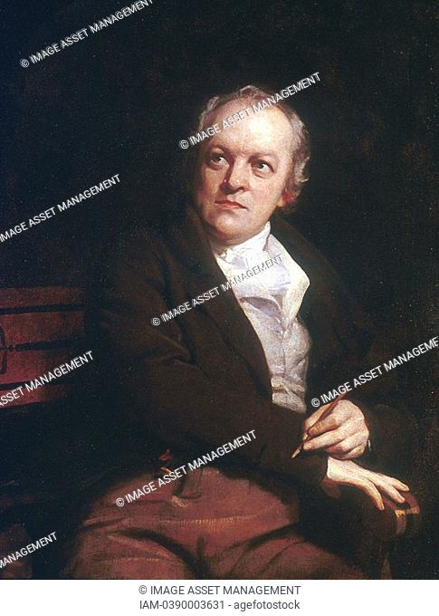 William BLAKE 1757-1827 English mystic, poet, artist and engraver  1807 portrait by Thomas Phillips  National Portrait Gallery, London